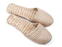 Bast shoes. On white background Royalty Free Stock Photo