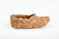 Bast shoes,. Bast, ancient russian shoes,  on white Stock Photos