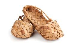 Bast shoes Royalty Free Stock Image