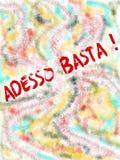 Basta Adesso, итальянская иллюстрация с предпосылкой цвета иллюстрация штока