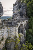Bastai Bridge in Saxon Switzerland Royalty Free Stock Image
