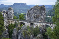 Bastai and the famous Bastai bridge Royalty Free Stock Photo