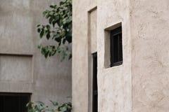 从Bastakiya处所的传统阿拉伯建筑学在Al F 库存照片
