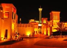 Bastakiya alla notte immagine stock libera da diritti