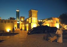 Bastakiya in Dubai. Traditional bastakiya in Dubai, United Arab Emirates Stock Photo