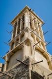Arabic Architechute in Dubai Old Quarter. Bastakiya Old Dubai Wind Tower Royalty Free Stock Photos