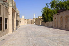 The Bastakiya Quarter in Dubai, UAE Royalty Free Stock Photos