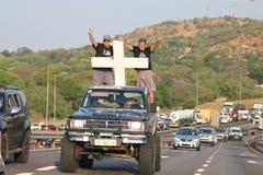 Bastante-estar-bastante, anti campanha Rustenburg do assassinato do fazendeiro, sul Foto de Stock