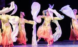 Bastante Huadan 3 - demostración clásica china de la Danza-graduación del departamento de la danza foto de archivo libre de regalías