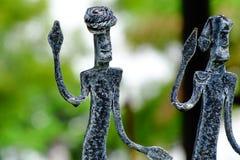 Bastar Tribe. Beautiful sculpture of Bastar Tribe stock photo