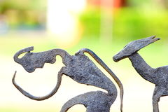 Bastar Tribe. Beautiful sculpture of Bastar Tribe royalty free stock photos