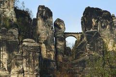 Bastei,德国 免版税库存图片