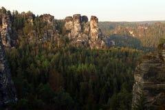 Bastei,德国 免版税图库摄影