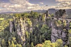 Bastei Σχηματισμοί βράχου Γερμανία στοκ φωτογραφίες με δικαίωμα ελεύθερης χρήσης