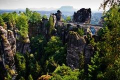 Bastei в Saxon Швейцарии 1 Стоковые Изображения RF
