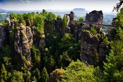Bastei в Saxon Швейцарии Стоковое Фото