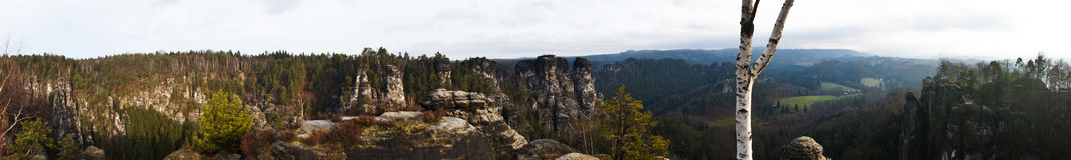 Bastei трясет panoram Стоковое Фото