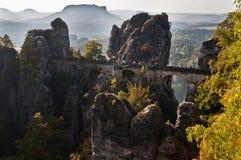 Bastei Brücke Stockbild