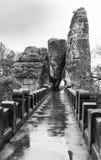 Bastei bridge, Germany royalty free stock photography