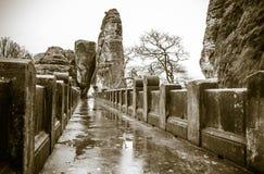 Bastei bridge, Germany stock photography