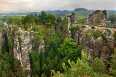 The Bastei bridge in Germany Royalty Free Stock Image