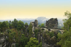 Bastei Bridge Royalty Free Stock Photo