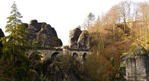 Bastei bridge. Near Rathen, Germany Stock Photo