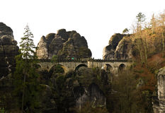 Bastei bridge. Near Rathen, Germany Royalty Free Stock Photography