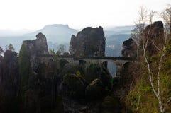 Bastei bridge. Near Rathen, Germany Royalty Free Stock Photo