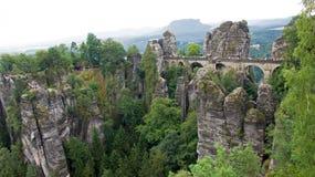 Bastei bridge in Rathen, Germany Stock Photo
