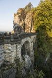 Bastei bridge in Saxon Switzerland in autumn, Germany Royalty Free Stock Photography