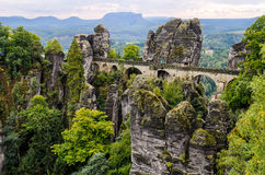 Bastei bridge in Saxon Switzerland, Germany Royalty Free Stock Photos