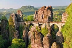 The Bastei Bridge Royalty Free Stock Photo