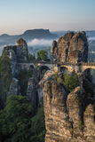 The Bastei bridge, Saxon Switzerland National Park, Germany Stock Images