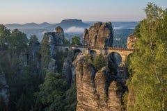 The Bastei bridge, Saxon Switzerland National Park, Germany Royalty Free Stock Photos
