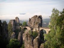 Bastei Bridge in Saxon Switzerland Royalty Free Stock Images