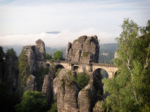 Bastei Bridge in Saxon Switzerland Royalty Free Stock Images