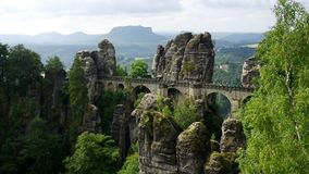 Bastei Bridge Royalty Free Stock Images