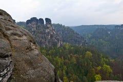 Bastei, Deutschland Fotografie Stock Libere da Diritti