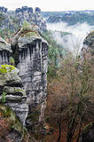 Bastei Die sächsische Schweiz Lizenzfreies Stockbild