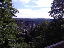 Bastei in Duitsland Royalty-vrije Stock Fotografie