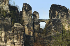 Bastei, Duitsland Royalty-vrije Stock Afbeelding
