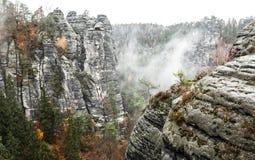 Bastei i Tyskland Royaltyfri Fotografi