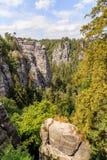 Bastei Mountain reserve. Saxon Switzerland Royalty Free Stock Photography