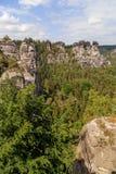 Bastei Mountain reserve. Saxon Switzerland Stock Photos
