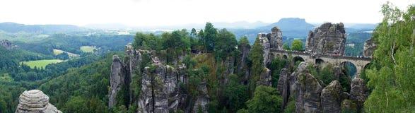 Bastei panorama in Rathen, Germany Royalty Free Stock Image