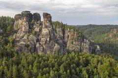 Bastei - ridge of rocks Royalty Free Stock Image
