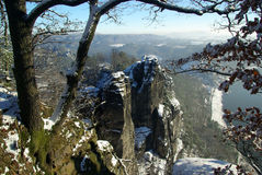 Bastei rock. The famous Bastei rock in Germany Royalty Free Stock Photos