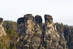 Bastei rocks. Group, Rathen, Germany Royalty Free Stock Images