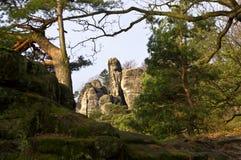 Bastei rocks. Group, Rathen, Germany Royalty Free Stock Photos